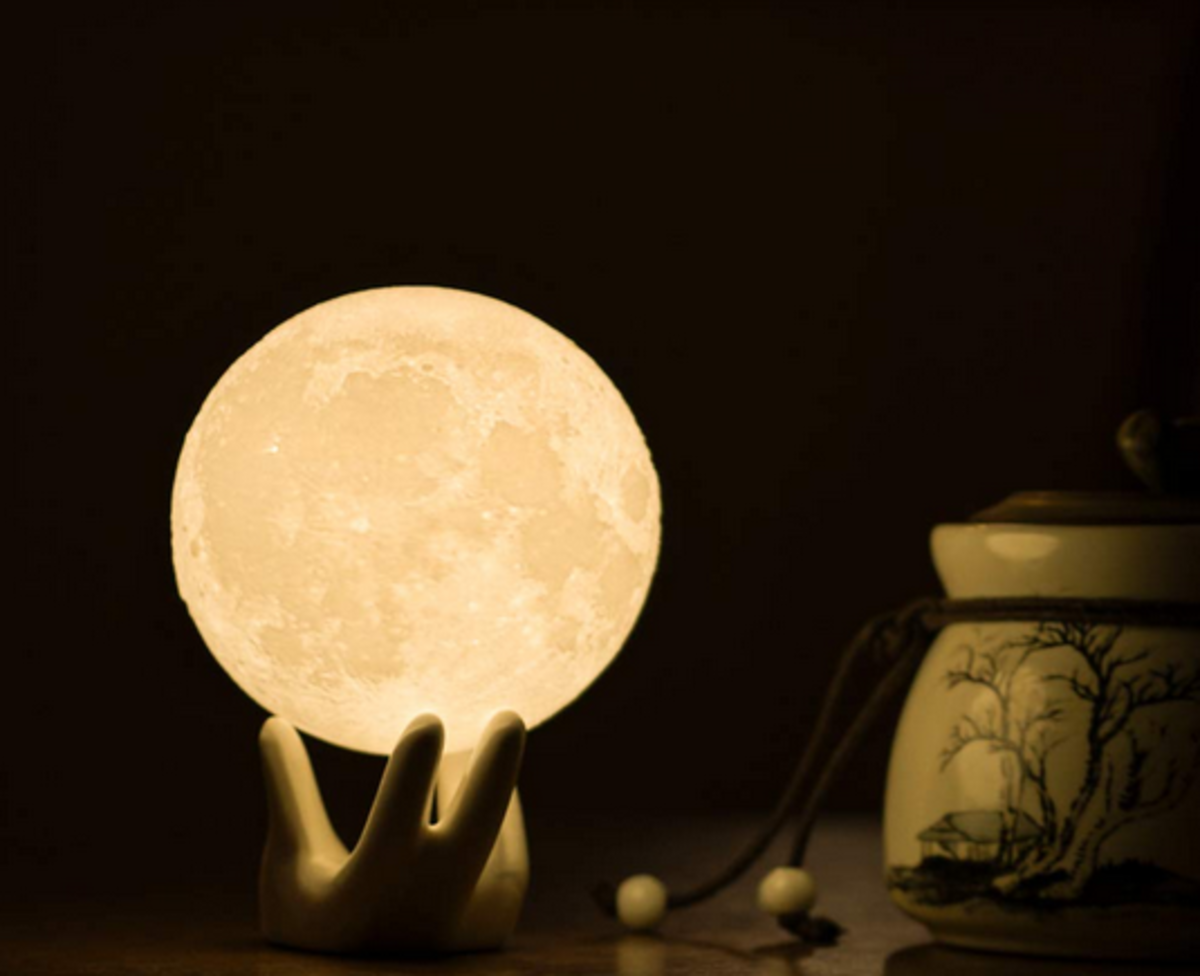 A very cool moon lamp for Dad's desk or den
