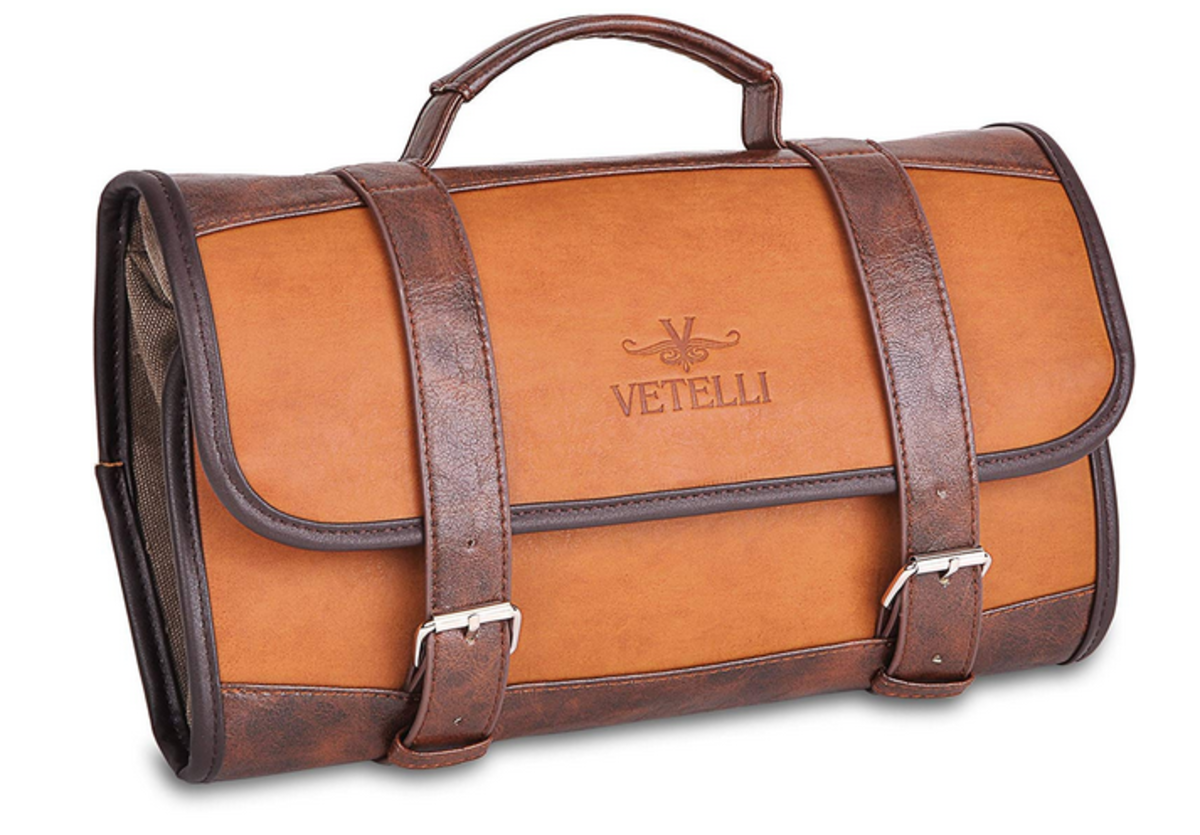 Vetelli's sharp travel toiletries bag
