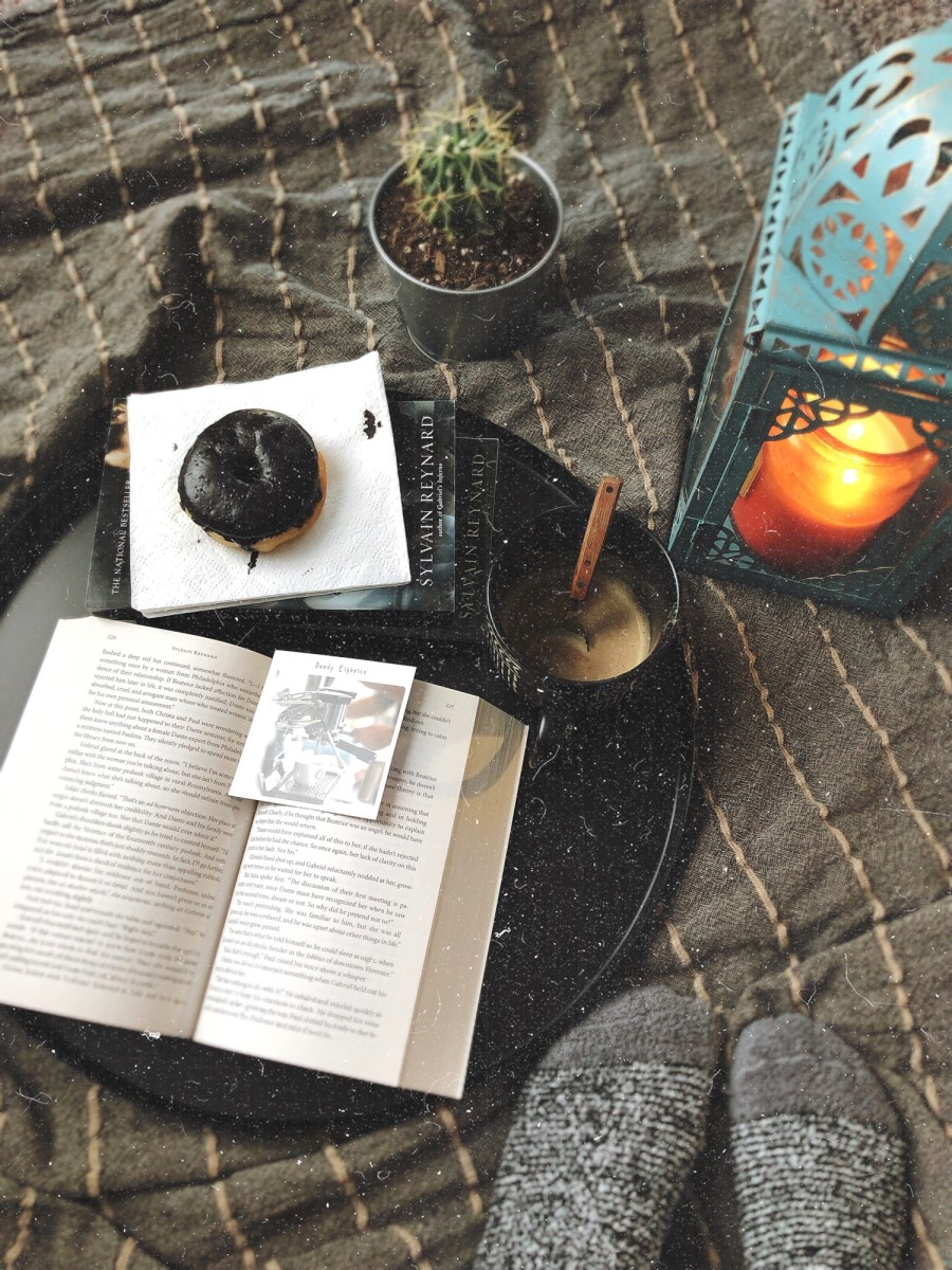 I love burning candles while I read my favorite books in bed.