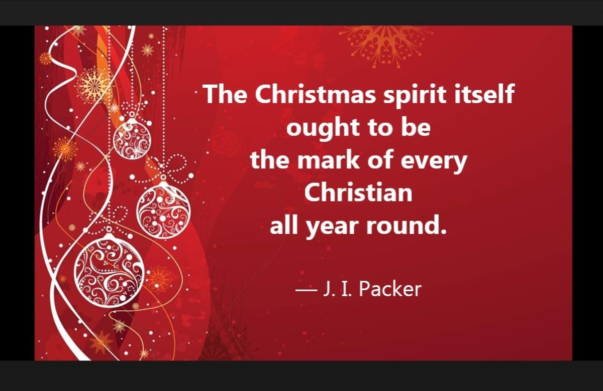 """""""The Christmas spirit itself ought to be the mark of every Christian all year round."""""""
