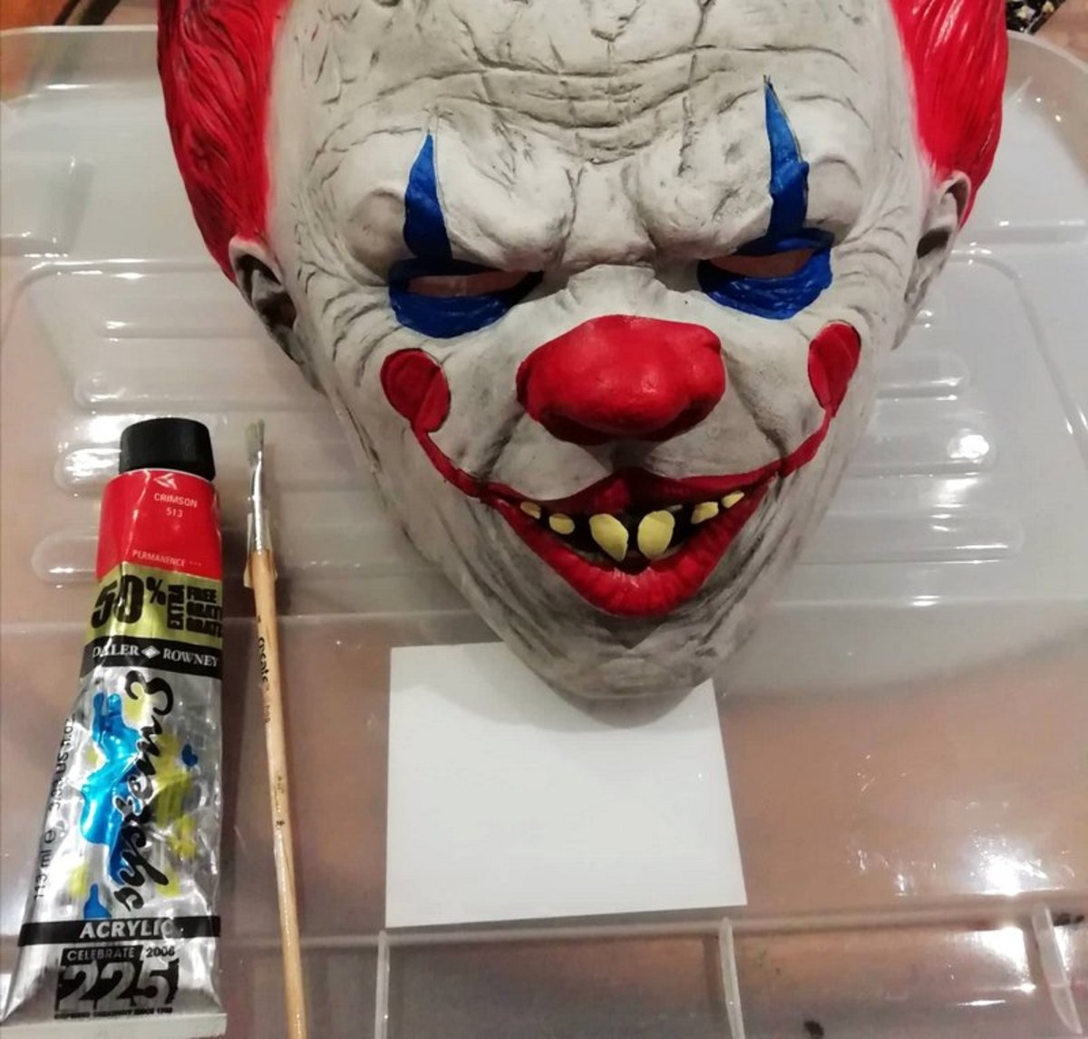This is the mask I used to create Pennywise's face.