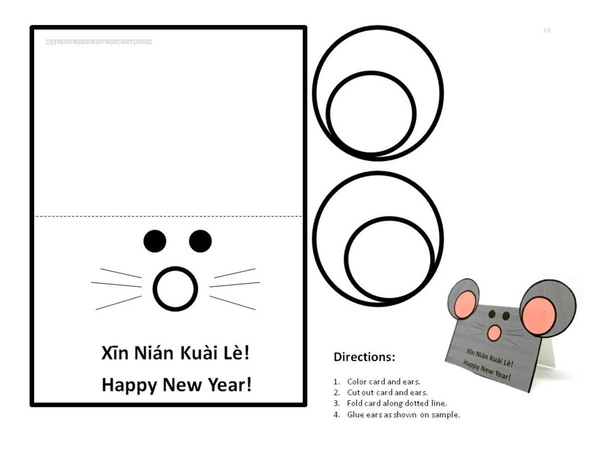 This is a version of the rat-with-ears card that children can color in themselves— click on the orange link below to print a .pdf copy.