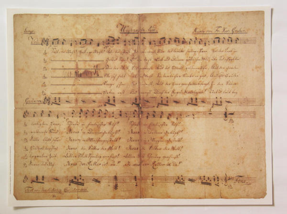 The earliest known manuscript of Silent Night.