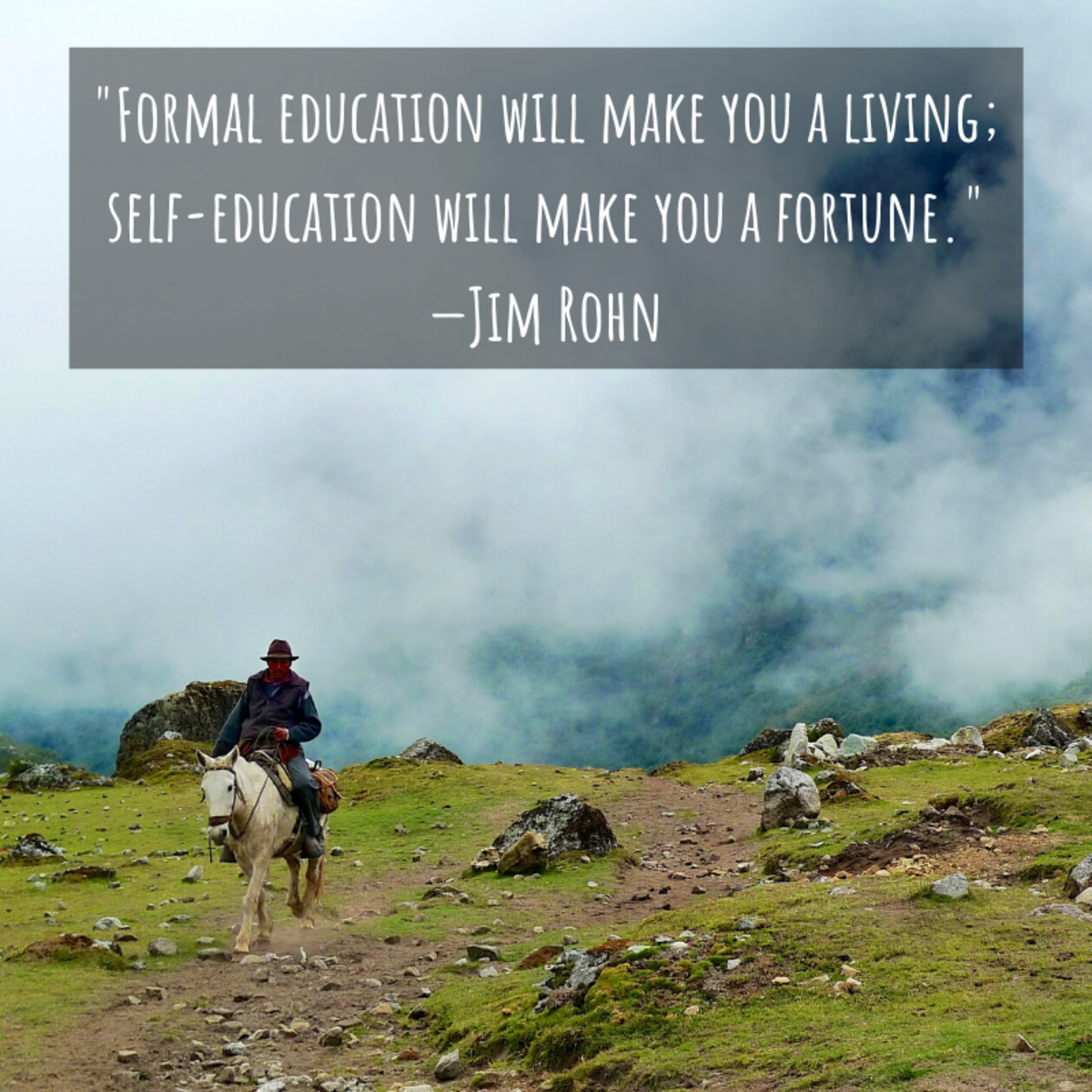 """""""Formal education will make you a living; self-education will make you a fortune."""" —Jim Rohn"""