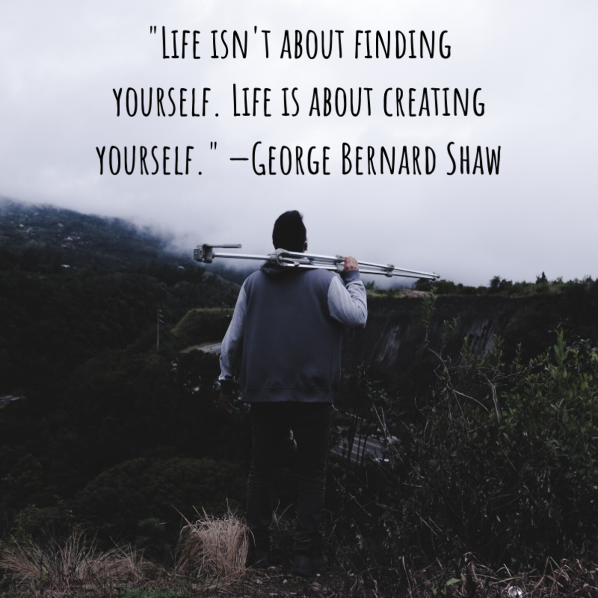 """""""Life isn't about finding yourself. Life is about creating yourself."""" ―George Bernard Shaw"""