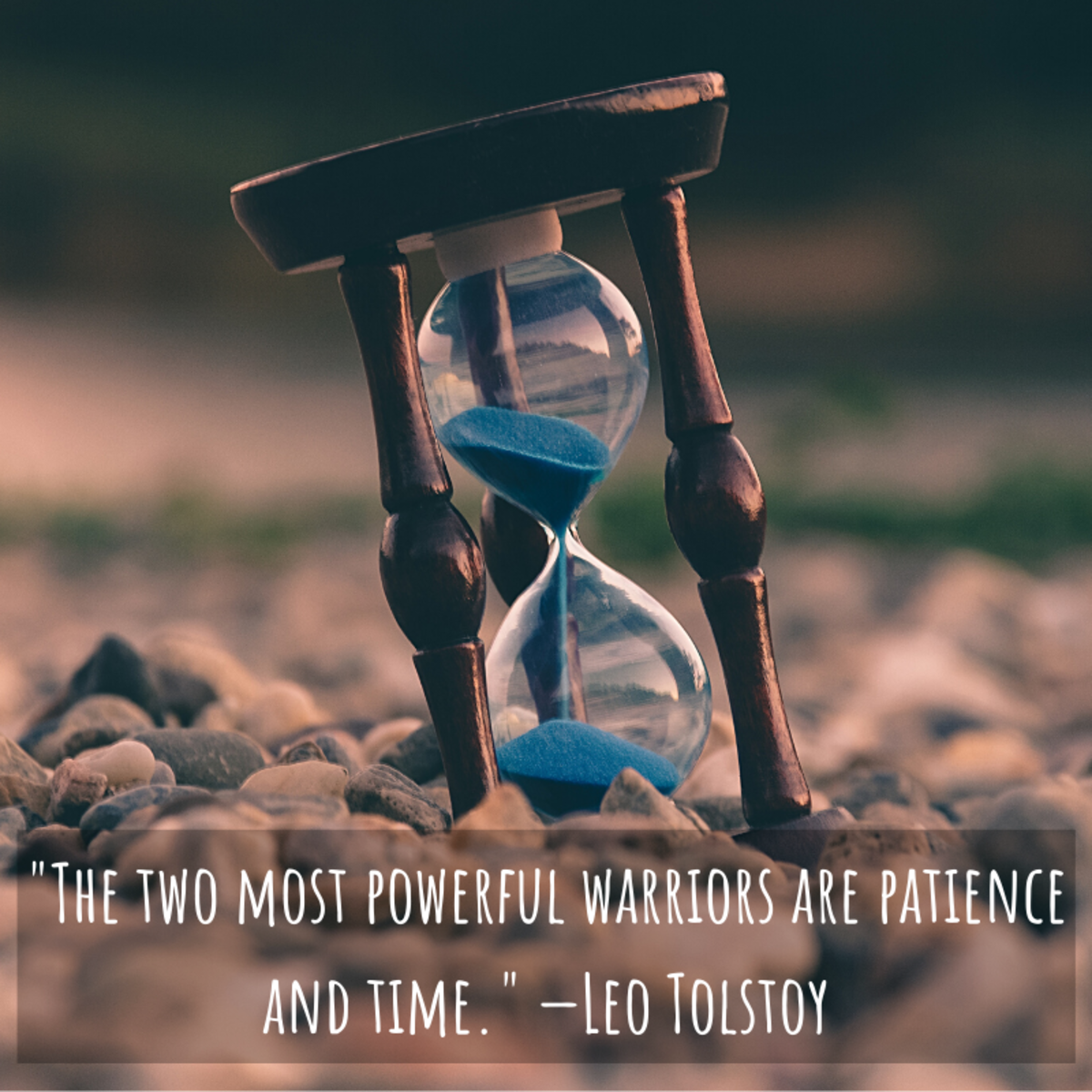 """""""The two most powerful warriors are patience and time."""" —Leo Tolstoy"""