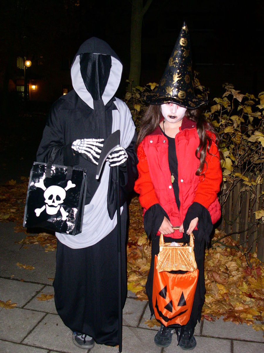 American trick-or-treaters
