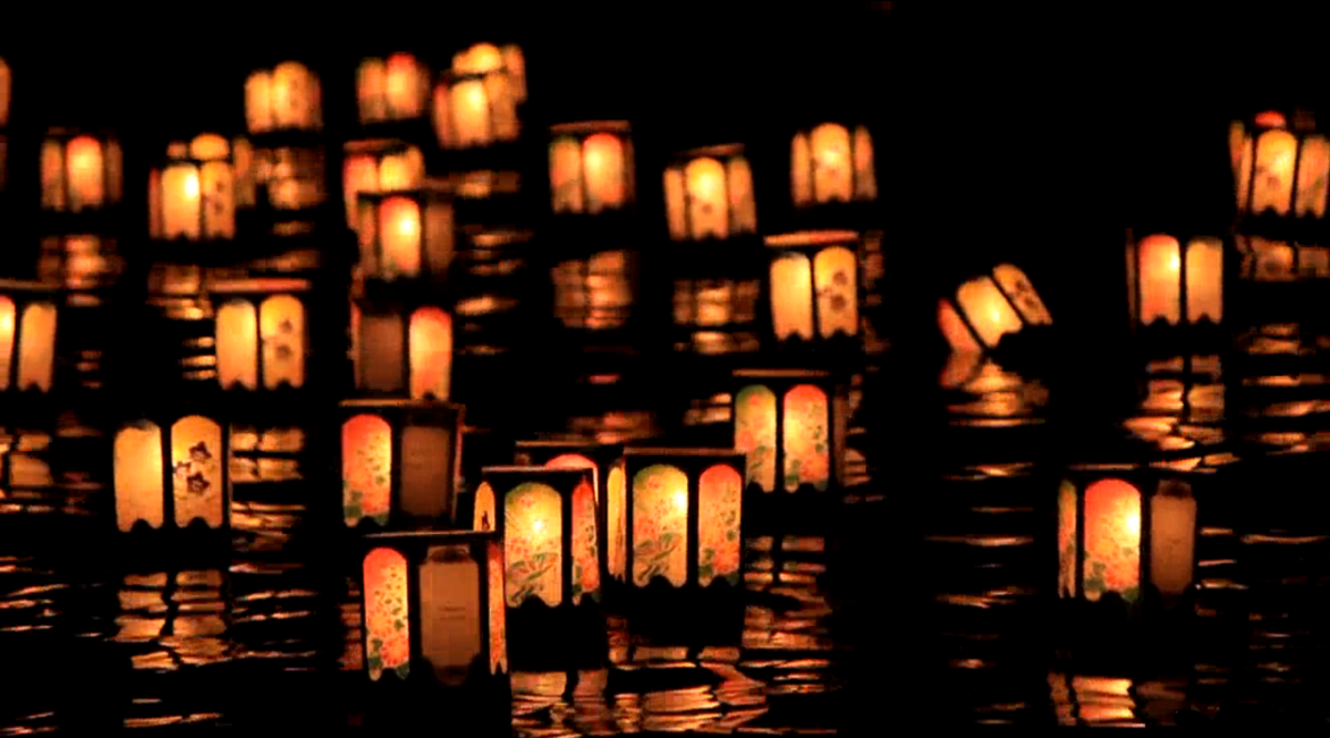 Release of lanterns in Tokyo