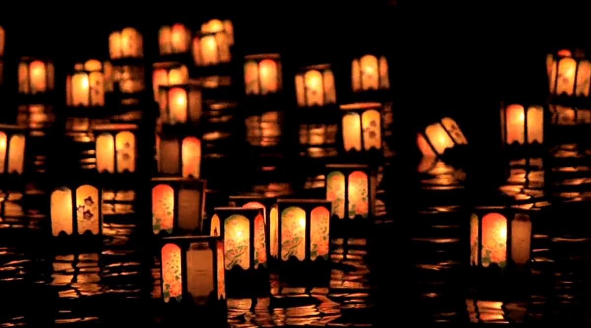Release of lanterns in Tokyo