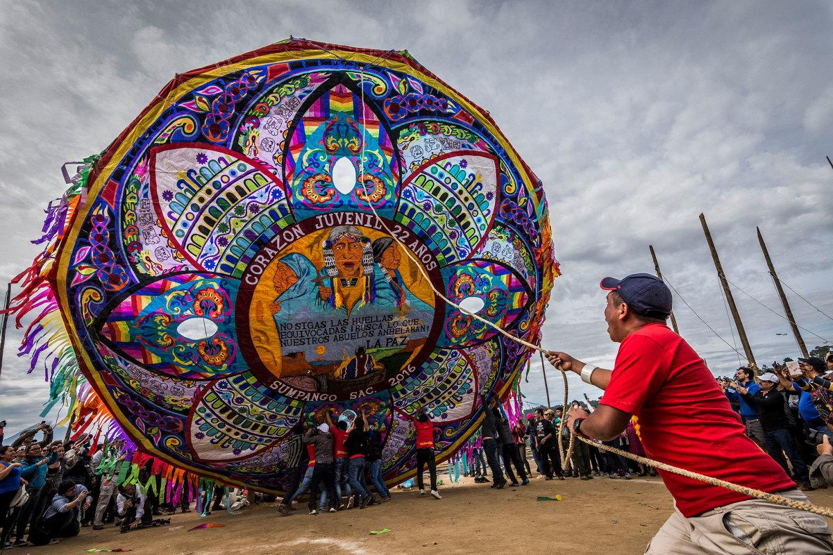 Giant kite in Guatemala - Dia de los Muertos