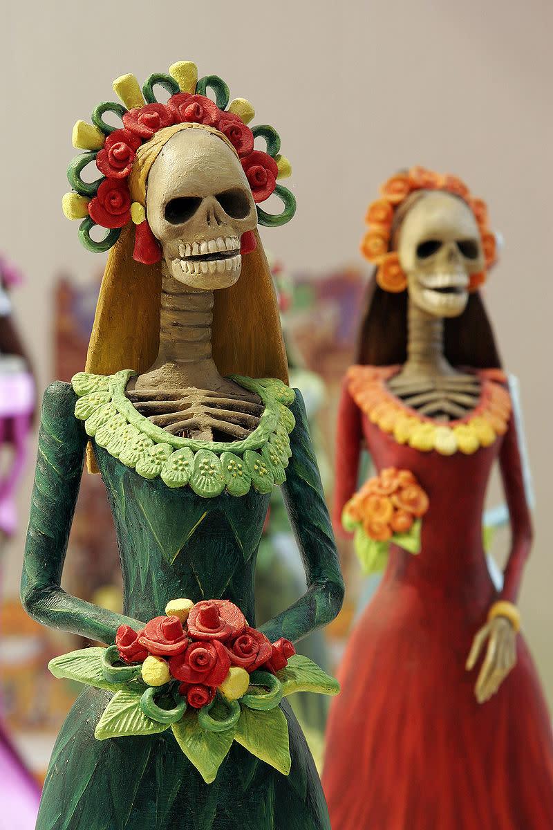 "Dia de los Muertos Art - Famous ""Calavera Catrina"" or Skeleton Catrina."