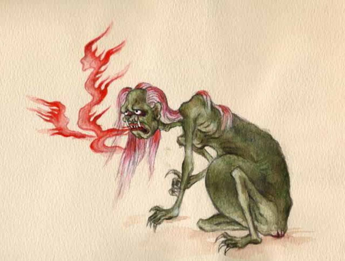 Drawing of a Hungry Ghost