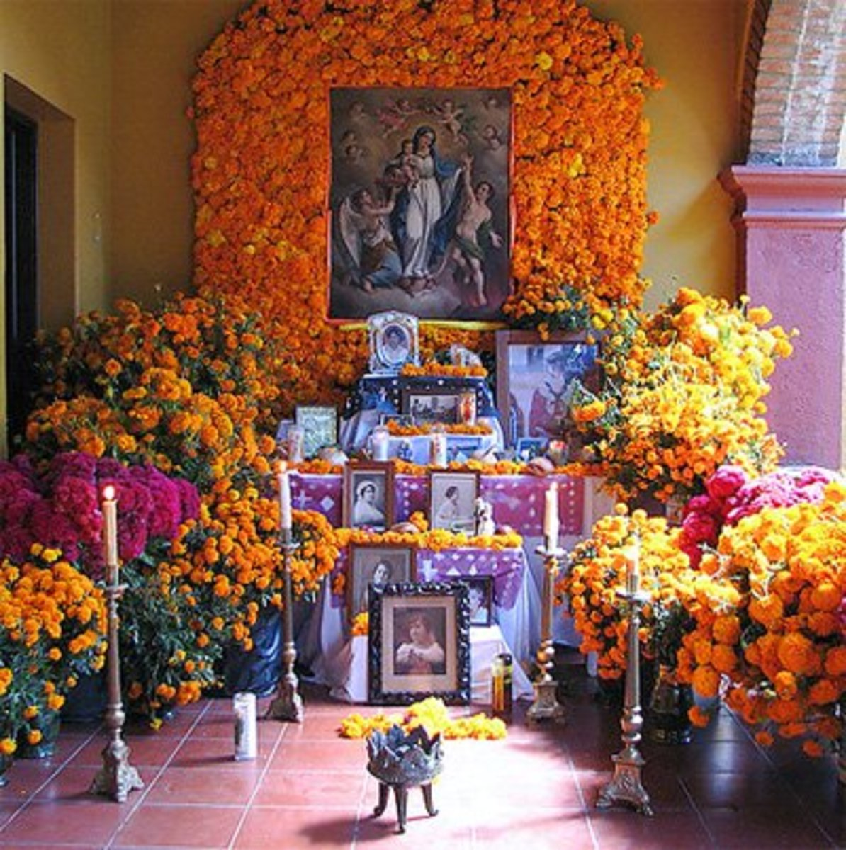An altar at a private home.