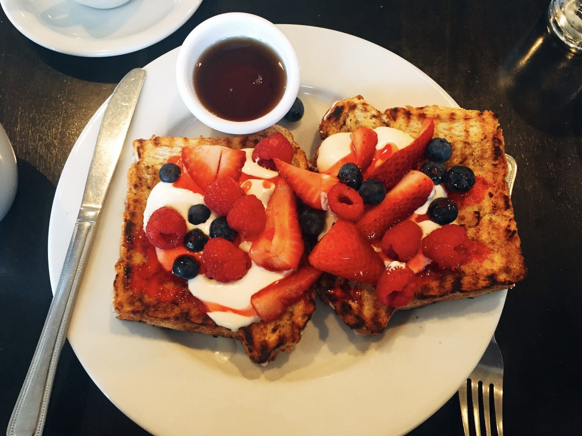 I had this delicious French toast at one of my favorite bakeries.