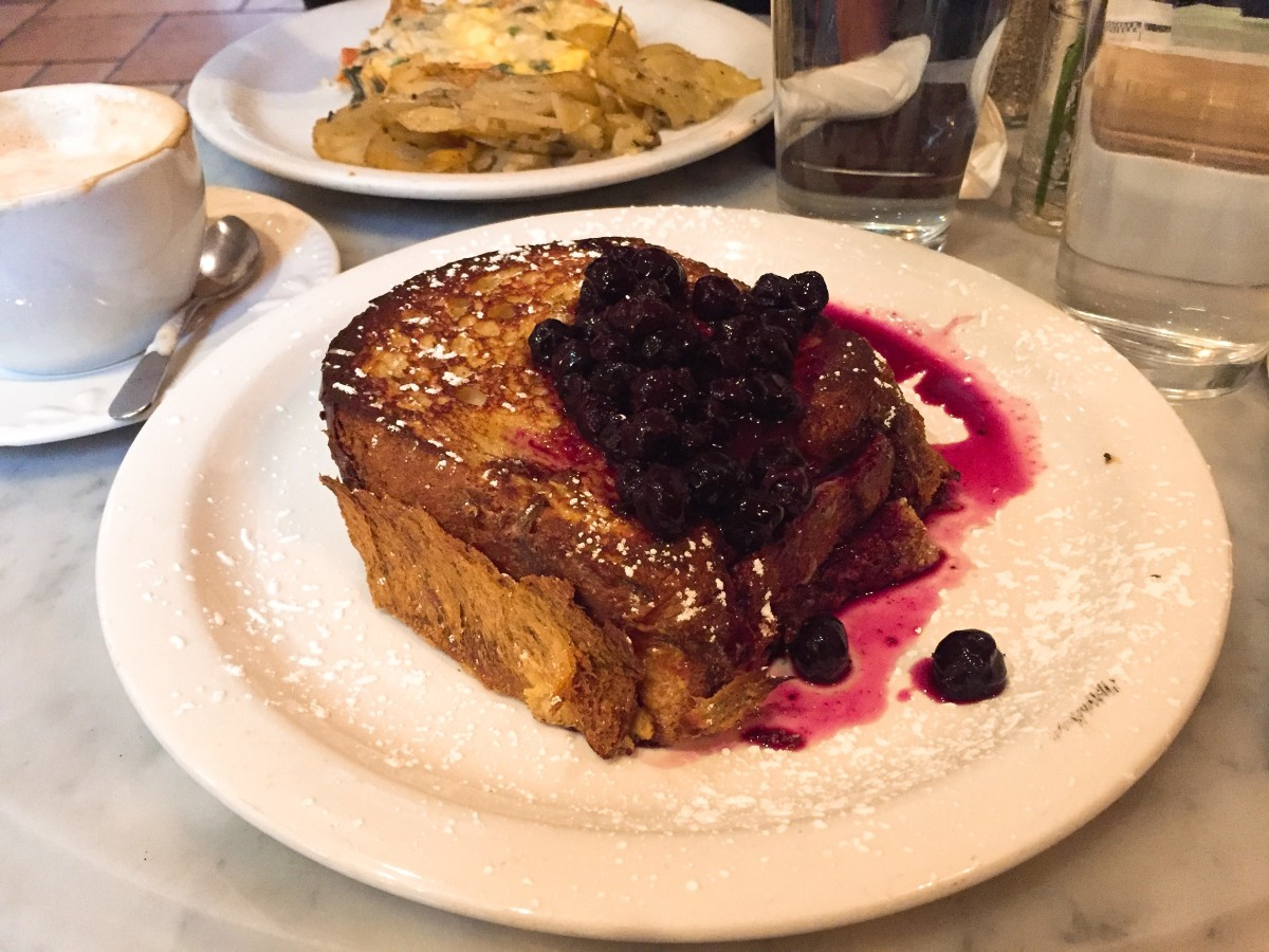 French toast also goes fabulously with blueberry compote on top!