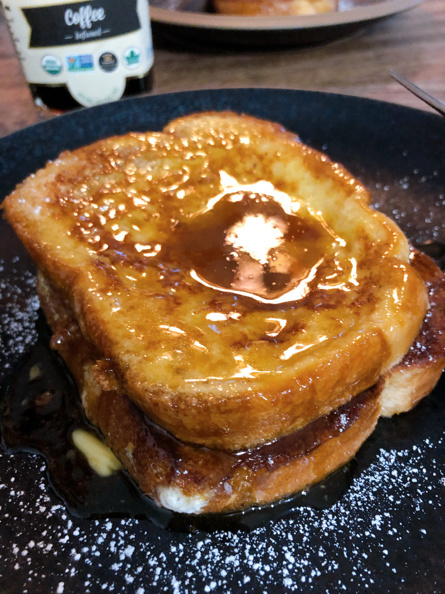French toast is not complete without warm maple syrup and a little bit of butter on top!