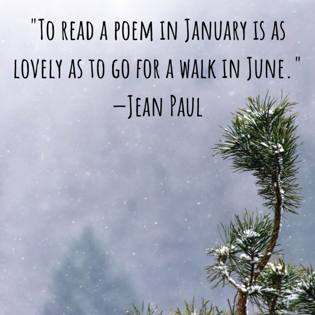 Do you still enjoy spending time in the outdoors during the cold of January?