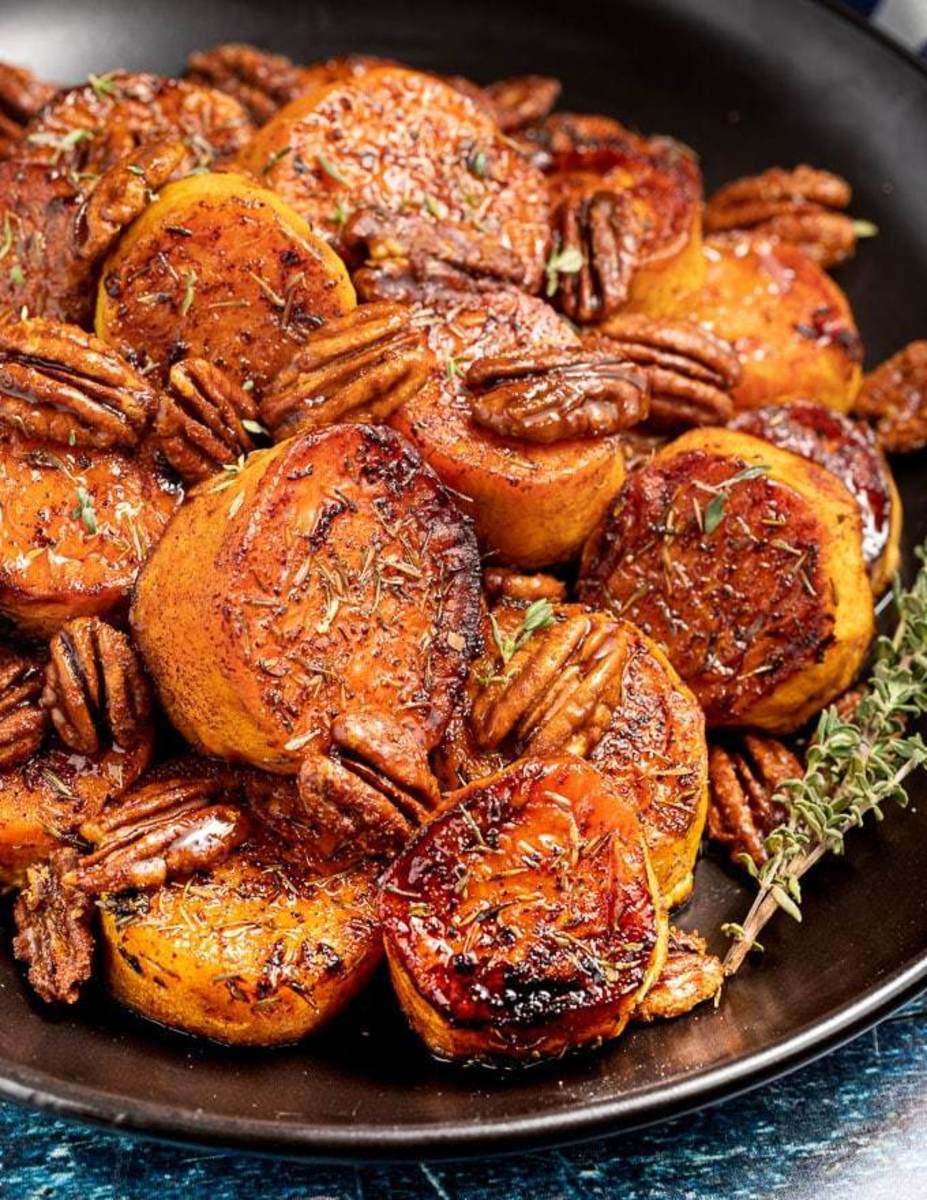 Melanie McDonald's melting cinnamon-roasted sweet potatoes