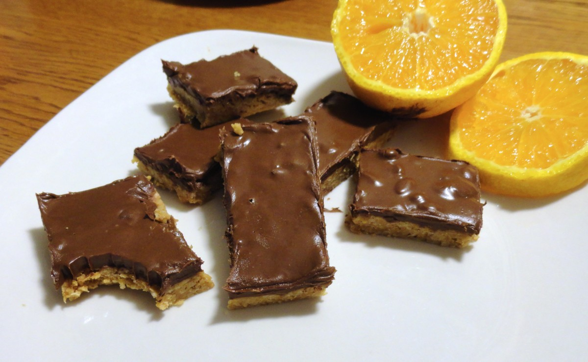 These are my no-bake peanut butter chocolate oat bars. They're delicious, vegan, and don't require any cooking.
