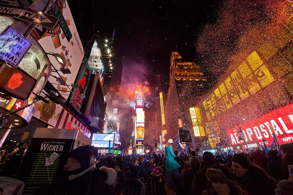 New Year's Eve in Times Square, New York City
