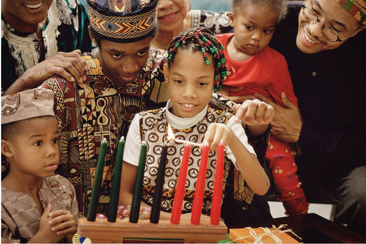 Families celebrating Kwanzaa sometimes share the candle lighting duties each night by allowing a  different family member to light the candles.