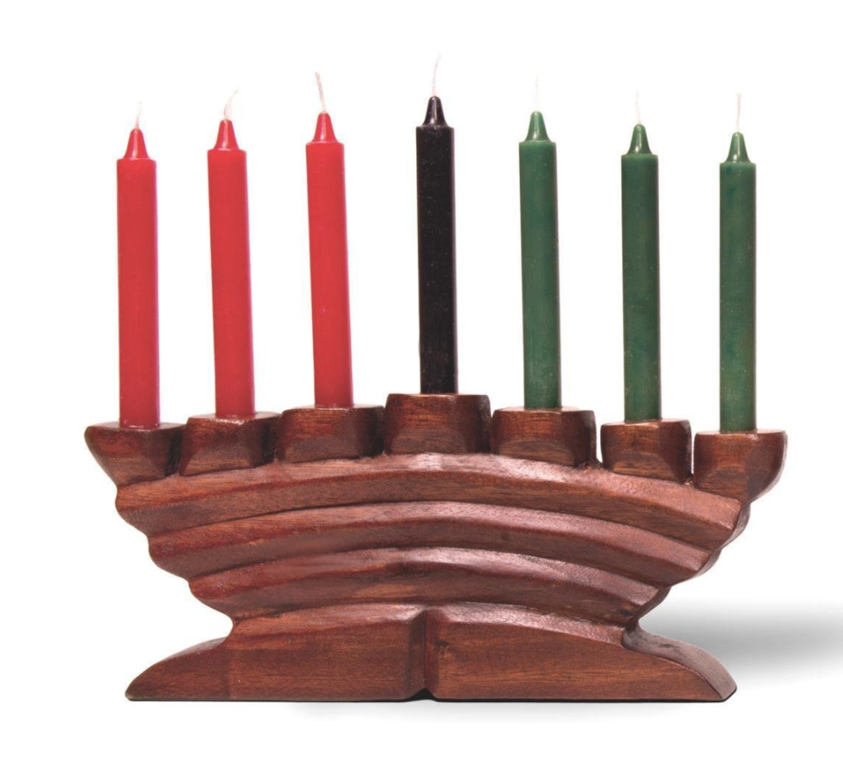 Kwanzaa's most notable symbol is the Kinara (Kee-Nah-rah). The Kinara is a candle holder that symbolizes the ancestral roots of the African continent.