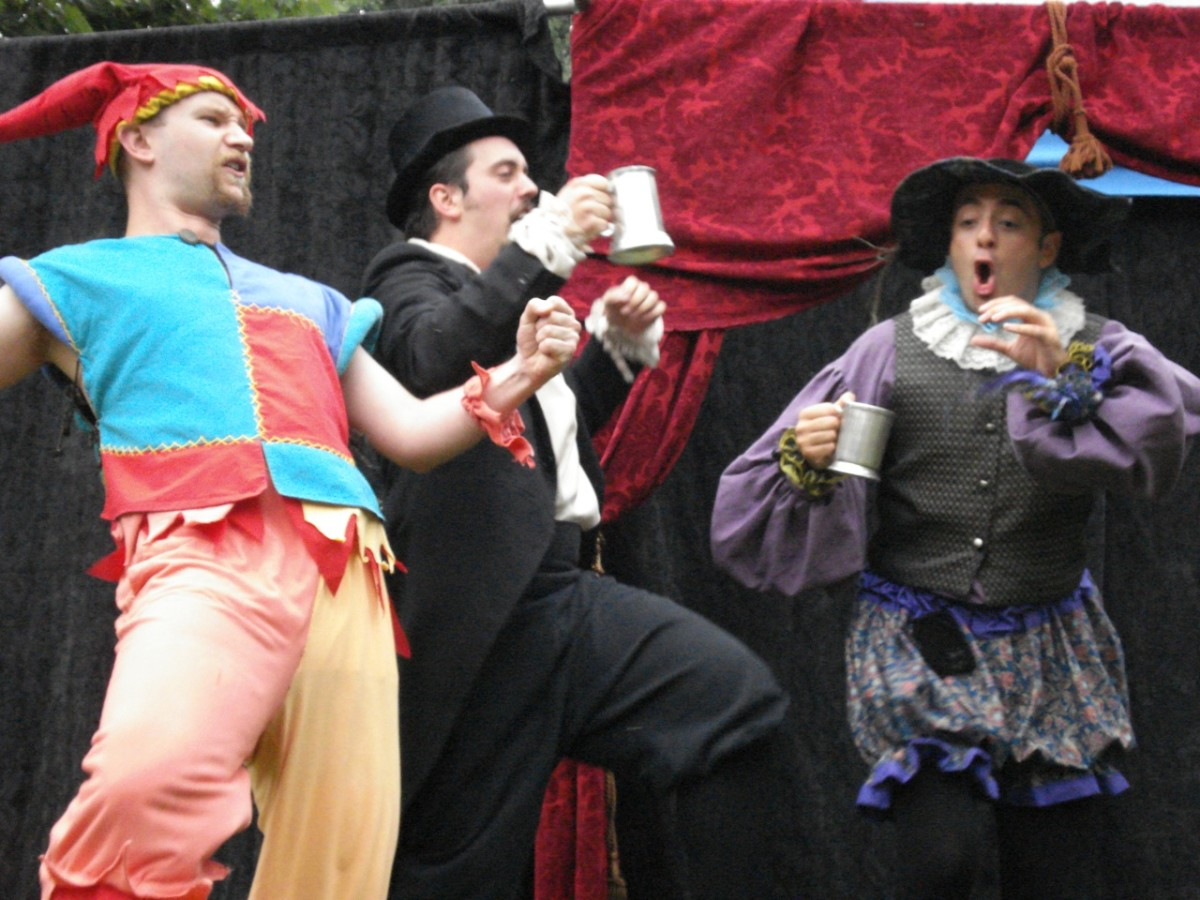 Shakespeare's Twelfth NIght Feste, Sir Toby Belch and Sir Andrew Aquecheek