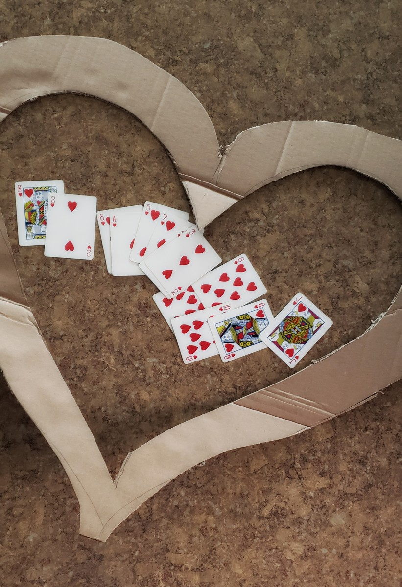 Separate heart cards from your deck.