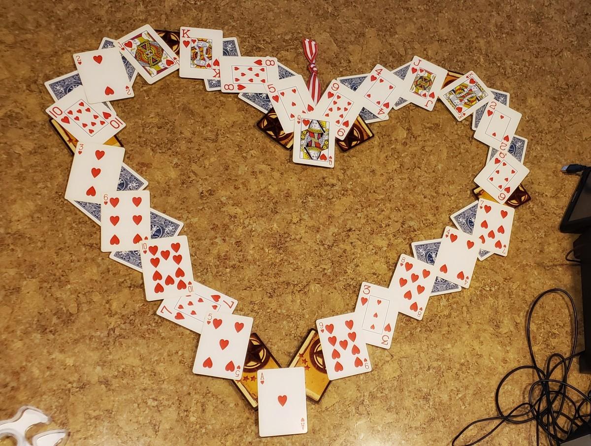 Queen of hearts wreath