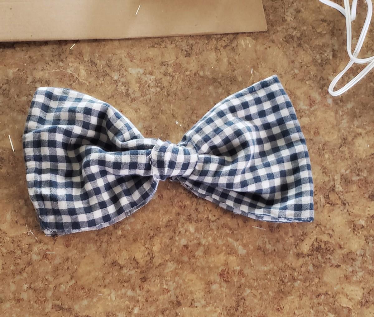 Fabric bow tie.
