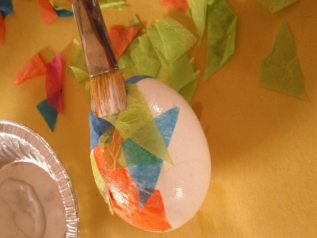 Process/Materials for Mosaic Egg