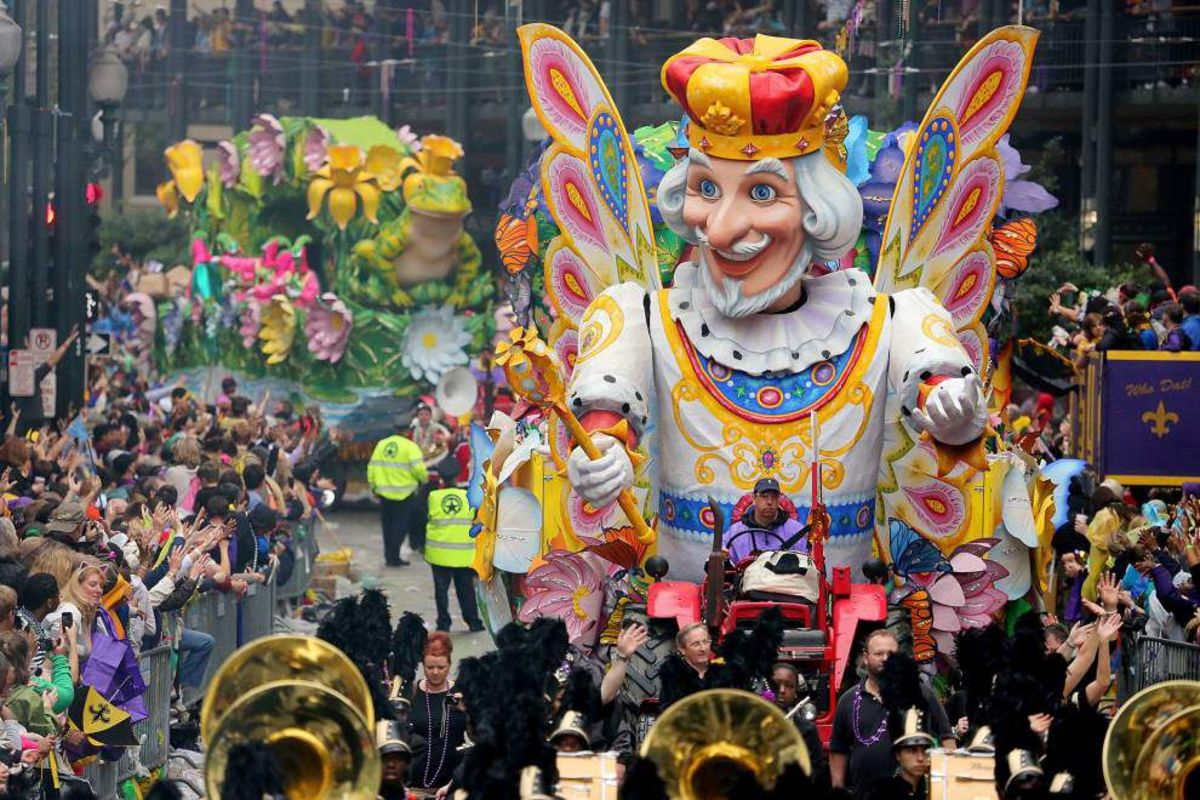 Today, millions attend the annual Mardi Gras celebrations in New Orleans.