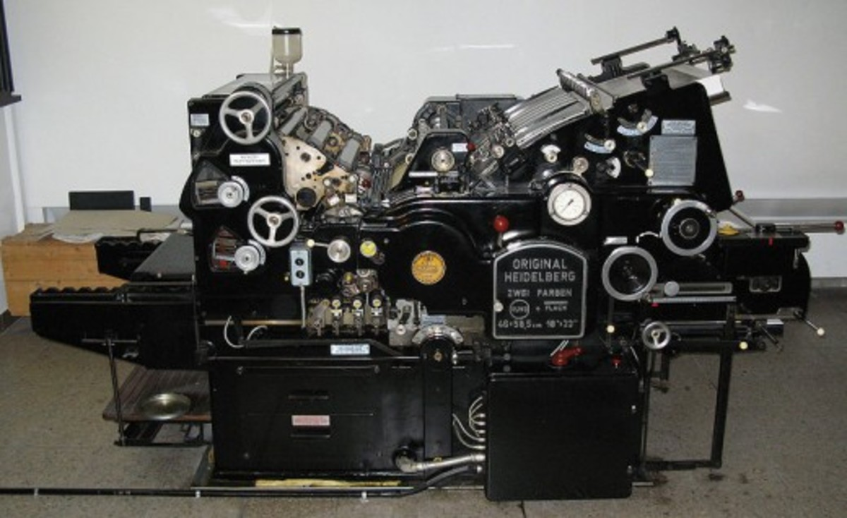 This photo is of a Heidelberg press from 1965.