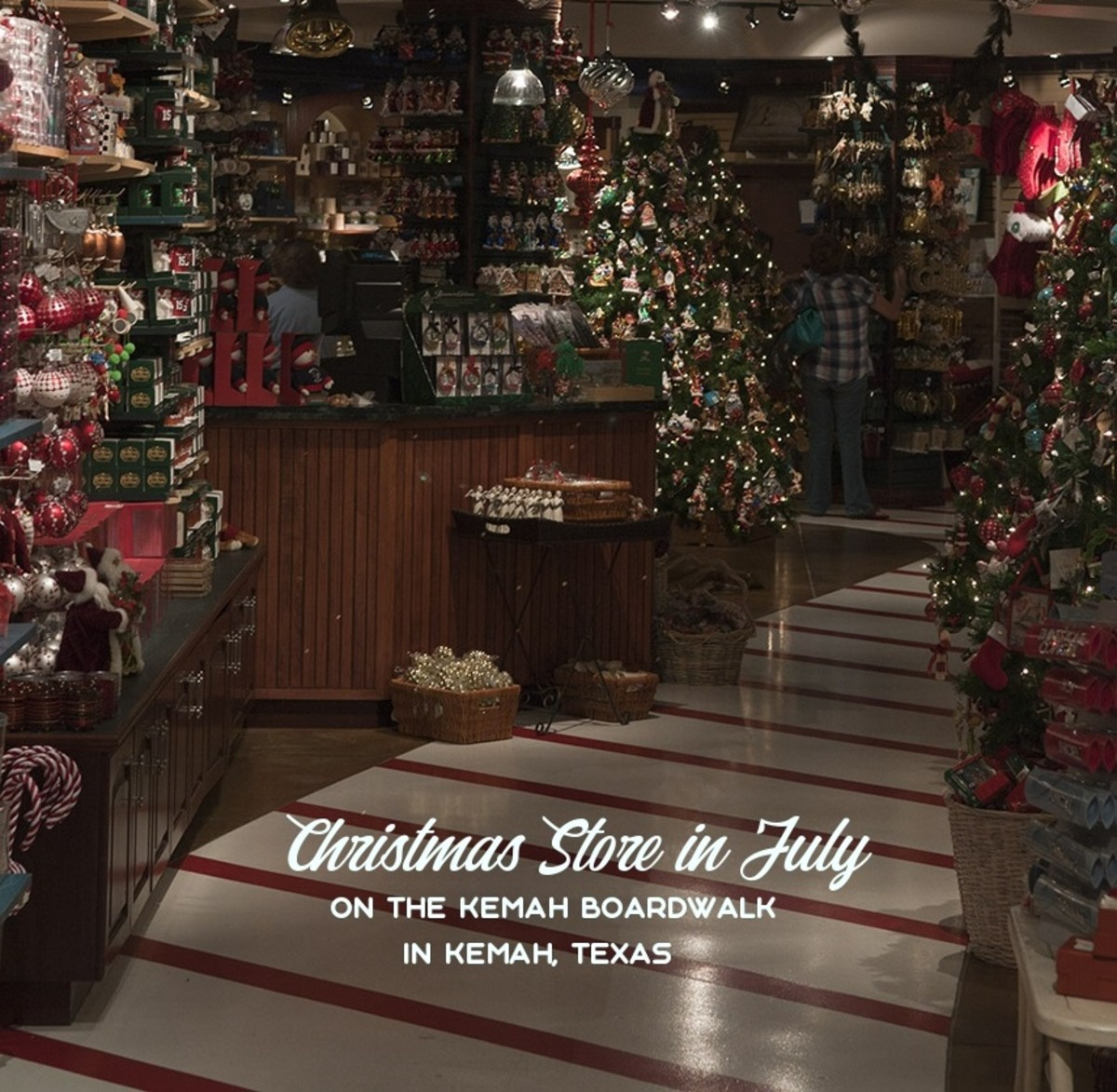 Christmas Store in July, in Kemah, Texas