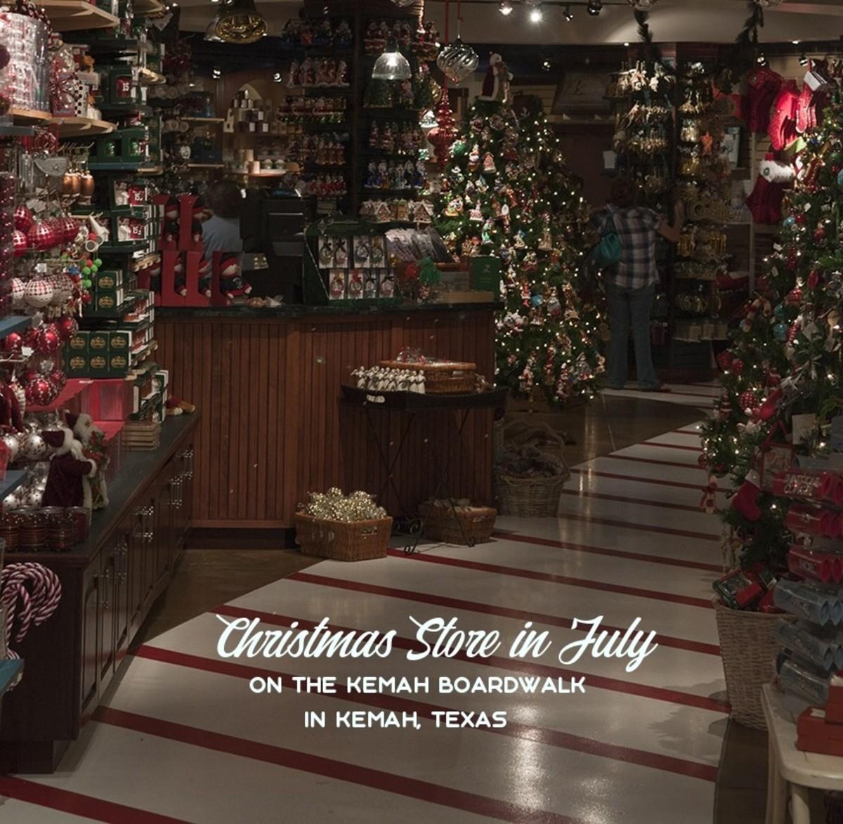 Christmas Store in July, in Kemah, Texas