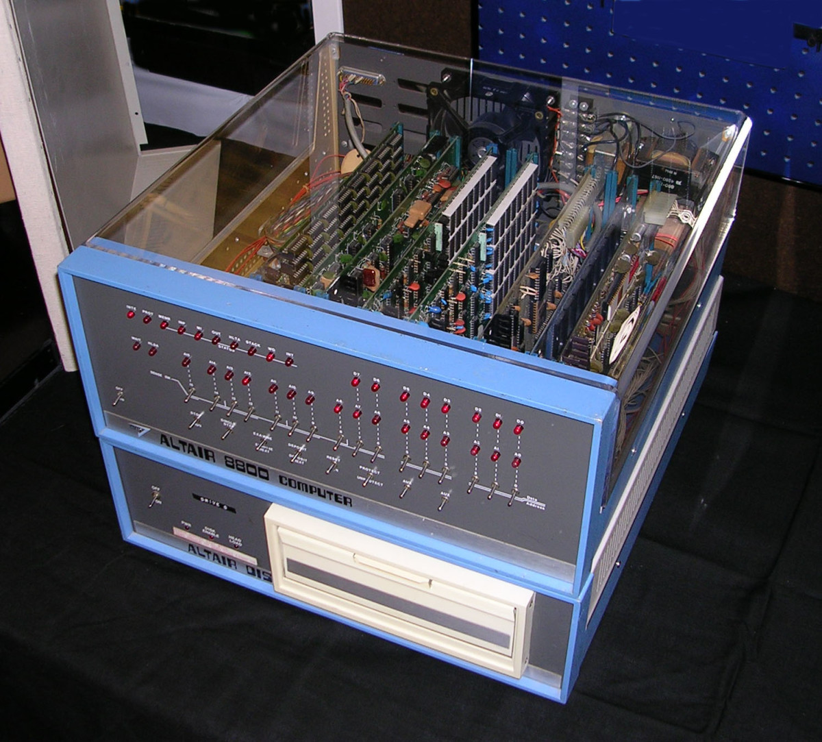Altair 8800 with separate tape drive (bottom)
