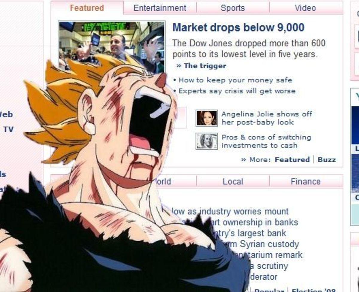 The Dow Jones is . . . under 9000 :(