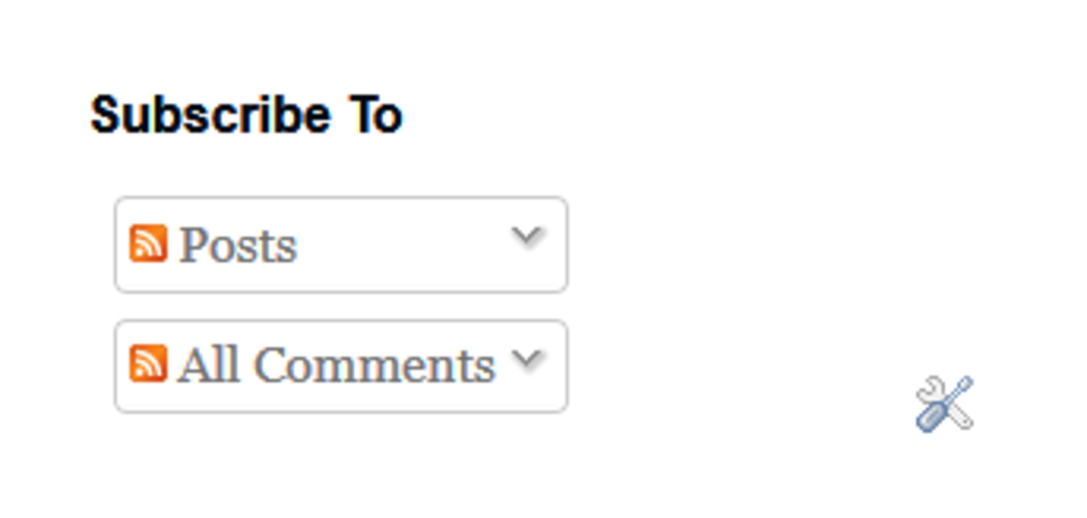 These buttons should be living in your blog's sidebar.