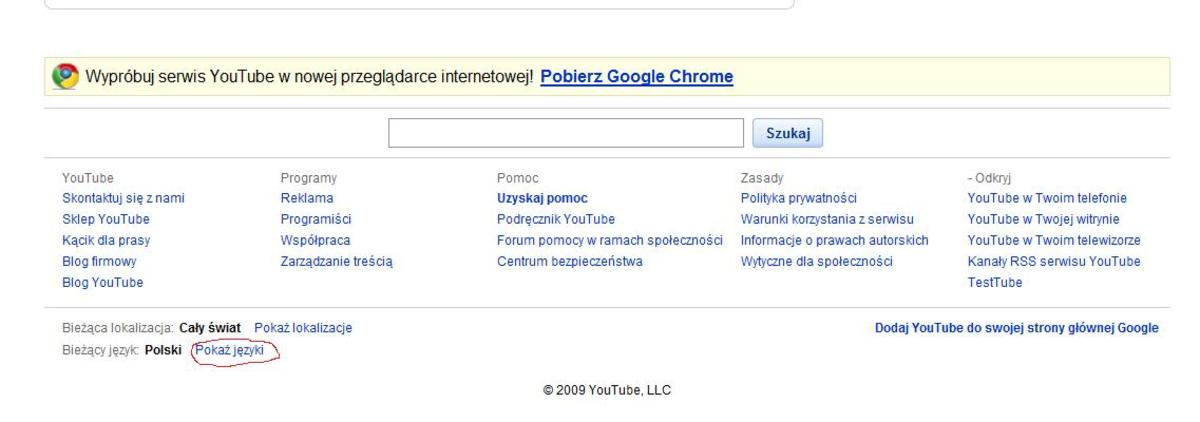 """""""Show languages"""" in Polish"""