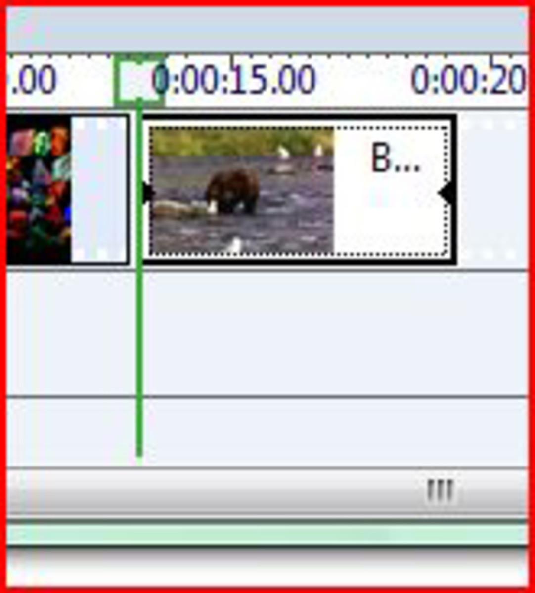 Shorten video by dragging in the arrows