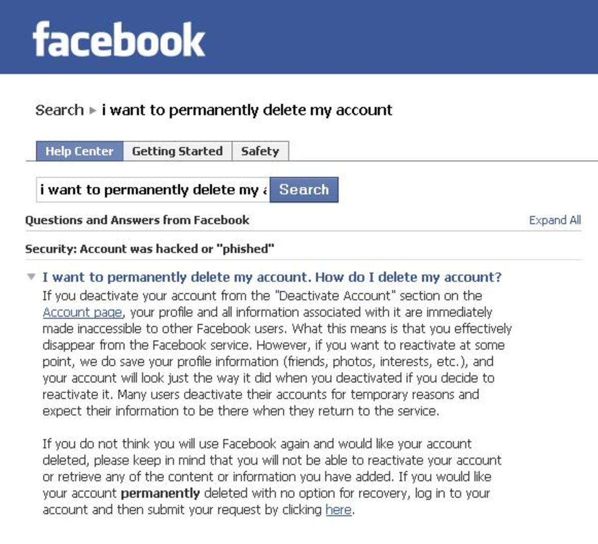 Detailed Instructions To Delete Facebook Account