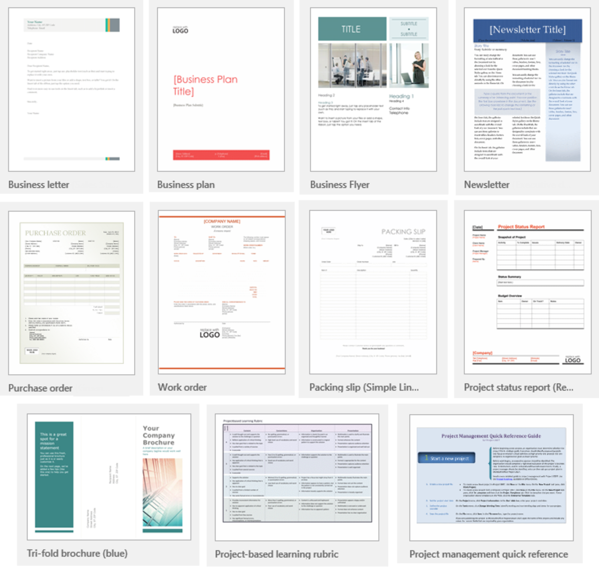 Microsoft Word 2016 Templates Showcase