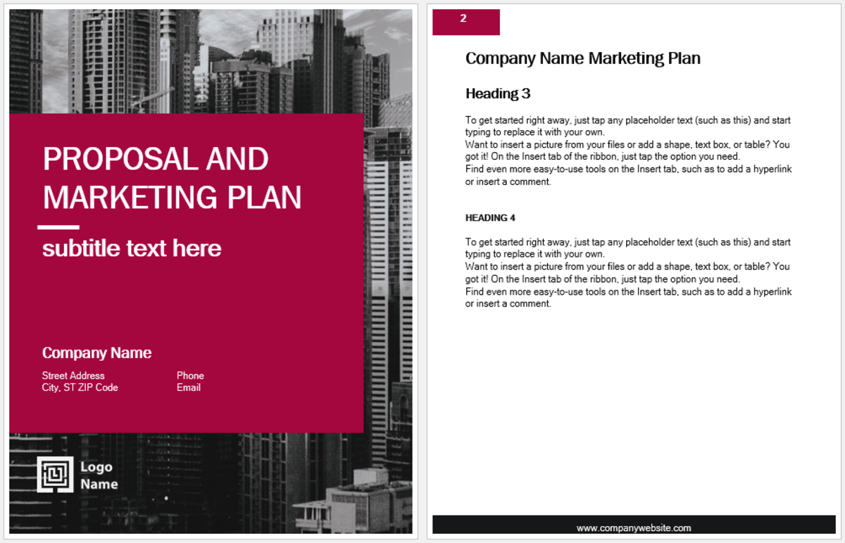 Microsoft Word Marketing Plan Template