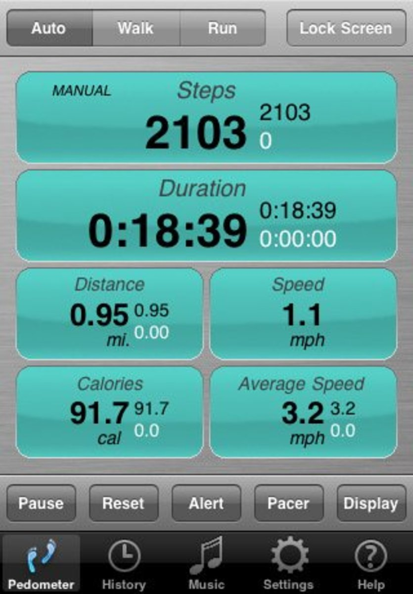 Footsteps Free Pedometer App