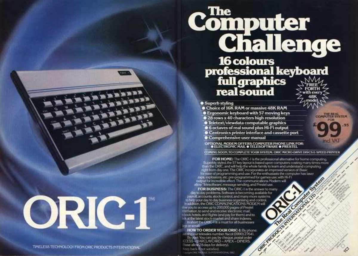 A great advert for the Oric 1; note the price of the machine