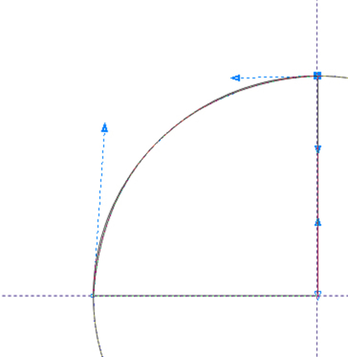 adjusting the diagonal line by means of the node points