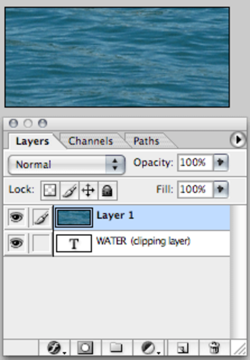 Add an image to a new layer.
