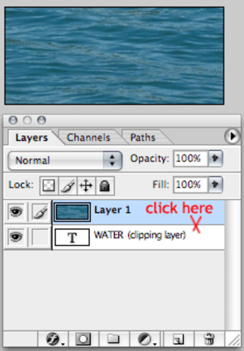 Click on the border between the layers.