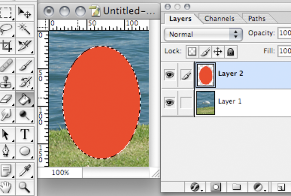 Fill in the new layer.