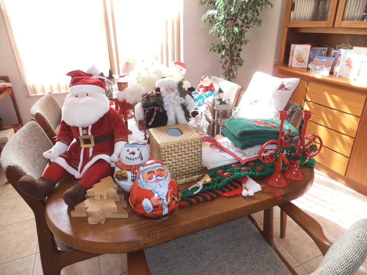 I make a big mess while decorating, and later undecorating, but it sure is festive when it is all in place.